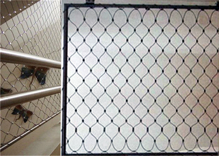 High Strength Balcony Safety Net , Stainless Steel X Tend Mesh For Handrail