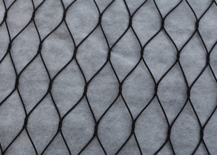Black Oxide Ferrule Wire Rope Mesh , High Durability Metal Rope Mesh For Architectural
