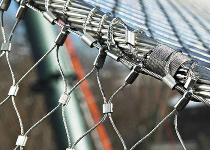 Multifunctional Architectural Wire Rope Mesh , Stainless Steel Wire Netting