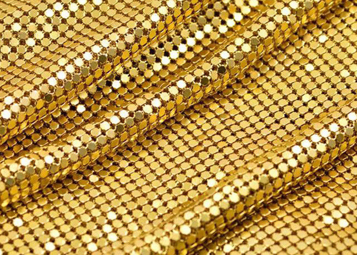 4mm Beautiful Shiny aluminum Metal Sequin Fabric for decoration