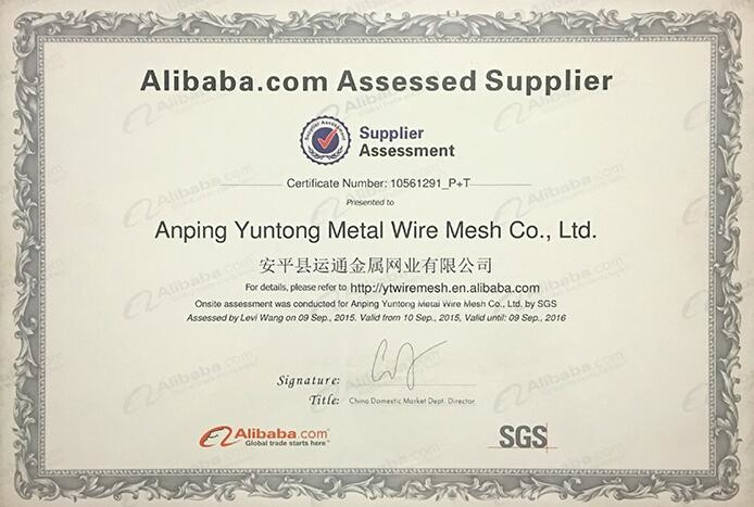 China Anping Yuntong Metal Mesh Co., Ltd. Zertifizierungen